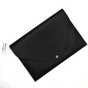 Colorplay Clutch New Black Vegan Leather